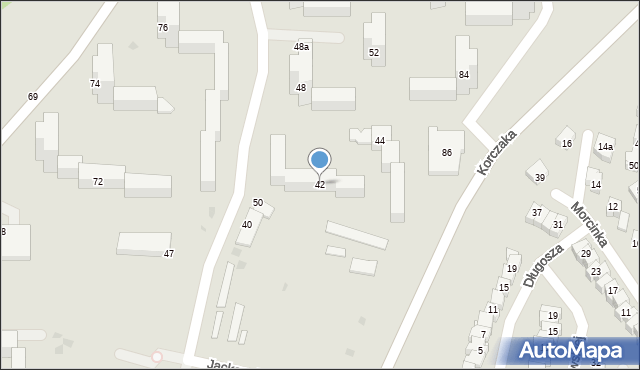 Grudziądz, Jackowskiego, 42, mapa Grudziądza