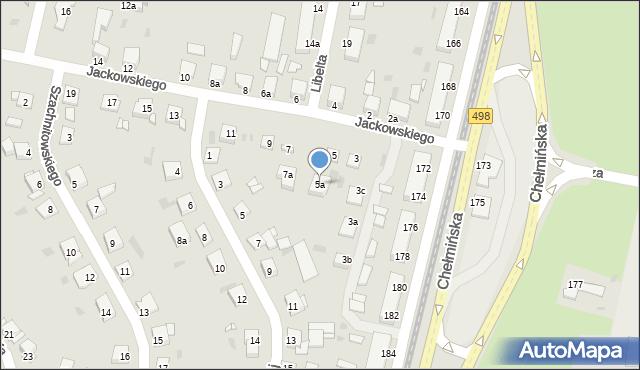 Grudziądz, Jackowskiego, 5a, mapa Grudziądza