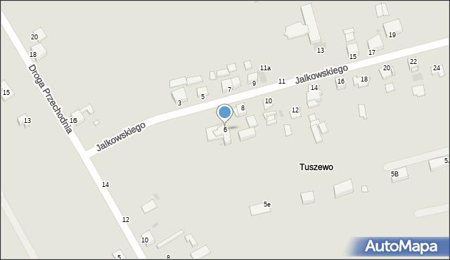 Grudziądz, Jalkowskiego Jerzego, 6, mapa Grudziądza