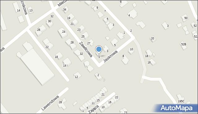 Grudziądz, Jaskrowa, 1, mapa Grudziądza
