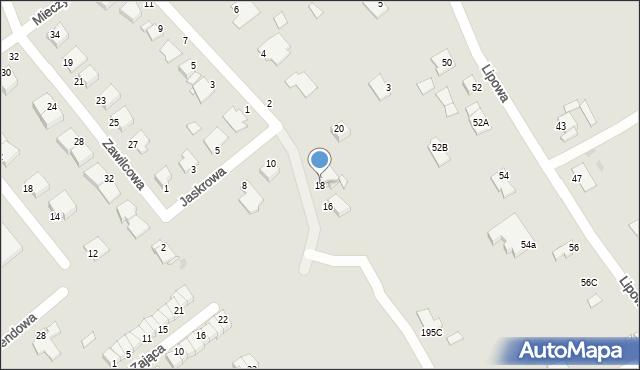 Grudziądz, Jaskrowa, 18, mapa Grudziądza