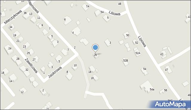Grudziądz, Jaskrowa, 20, mapa Grudziądza