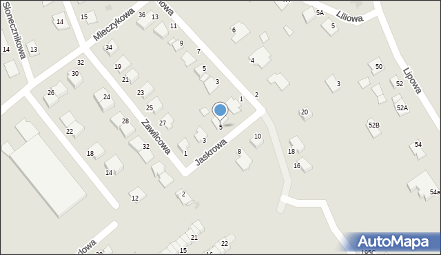 Grudziądz, Jaskrowa, 5, mapa Grudziądza