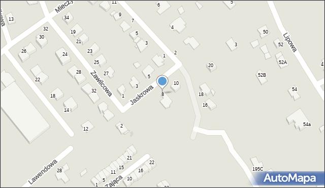 Grudziądz, Jaskrowa, 8, mapa Grudziądza