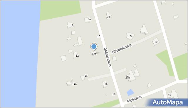 Grudziądz, Jaśminowa, 12a, mapa Grudziądza