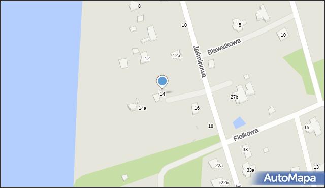 Grudziądz, Jaśminowa, 14, mapa Grudziądza