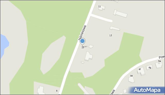Grudziądz, Jaśminowa, 15, mapa Grudziądza