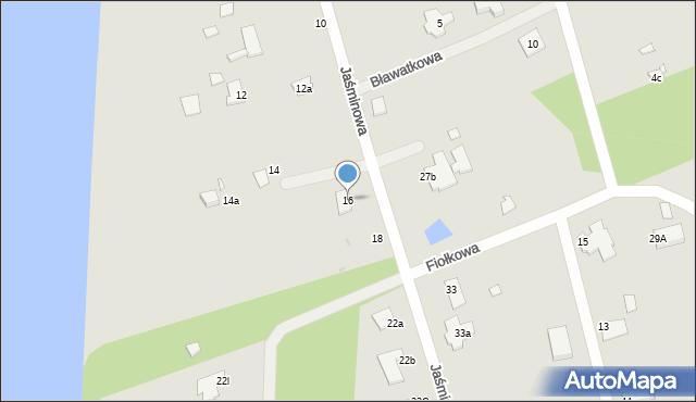 Grudziądz, Jaśminowa, 16, mapa Grudziądza