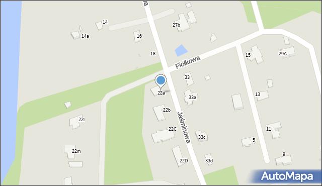 Grudziądz, Jaśminowa, 22a, mapa Grudziądza