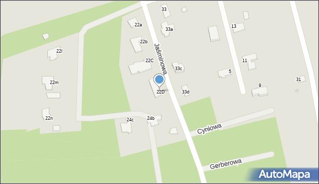 Grudziądz, Jaśminowa, 22D, mapa Grudziądza