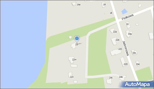 Grudziądz, Jaśminowa, 22l, mapa Grudziądza