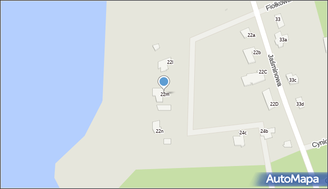 Grudziądz, Jaśminowa, 22m, mapa Grudziądza