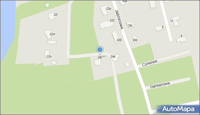 Grudziądz, Jaśminowa, 24c, mapa Grudziądza