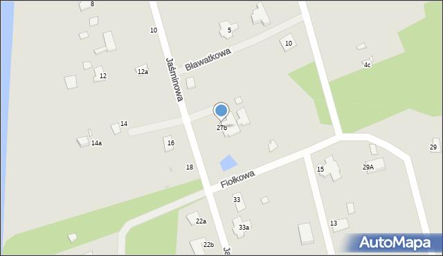 Grudziądz, Jaśminowa, 27b, mapa Grudziądza