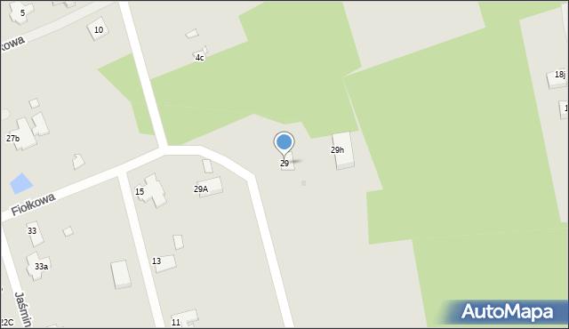 Grudziądz, Jaśminowa, 29, mapa Grudziądza