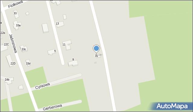 Grudziądz, Jaśminowa, 31, mapa Grudziądza