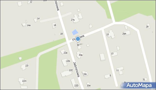 Grudziądz, Jaśminowa, 33, mapa Grudziądza