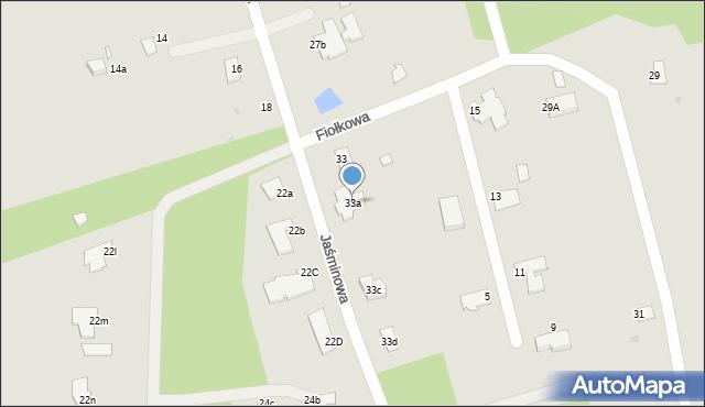 Grudziądz, Jaśminowa, 33a, mapa Grudziądza