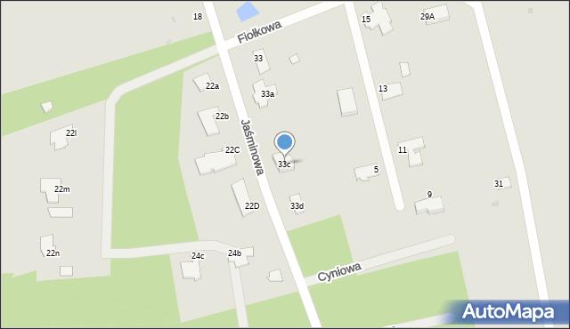 Grudziądz, Jaśminowa, 33c, mapa Grudziądza