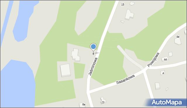 Grudziądz, Jaśminowa, 6, mapa Grudziądza