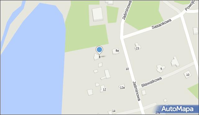 Grudziądz, Jaśminowa, 8, mapa Grudziądza