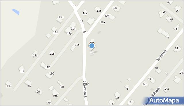 Grudziądz, Jaworowa, 12, mapa Grudziądza