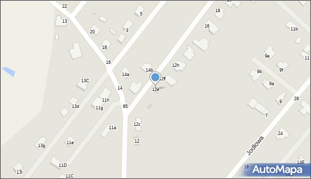Grudziądz, Jaworowa, 12e, mapa Grudziądza