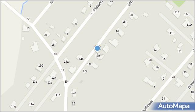 Grudziądz, Jaworowa, 12h, mapa Grudziądza