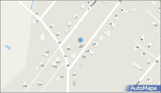 Grudziądz, Jaworowa, 14b, mapa Grudziądza