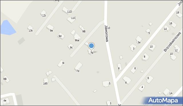 Grudziądz, Jaworowa, 7b, mapa Grudziądza