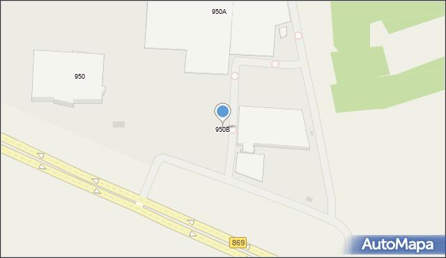 Jasionka, Jasionka, 950B, mapa Jasionka