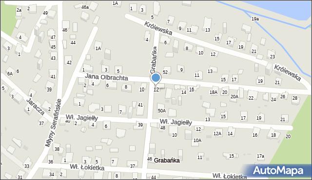 Jaworzno, Jana Olbrachta, 12, mapa Jaworzno