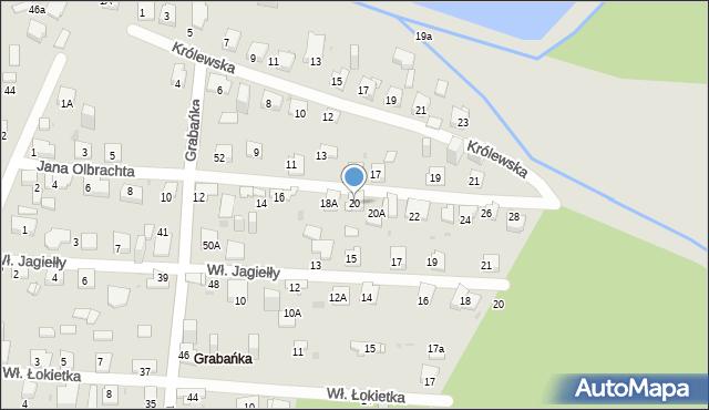 Jaworzno, Jana Olbrachta, 20, mapa Jaworzno