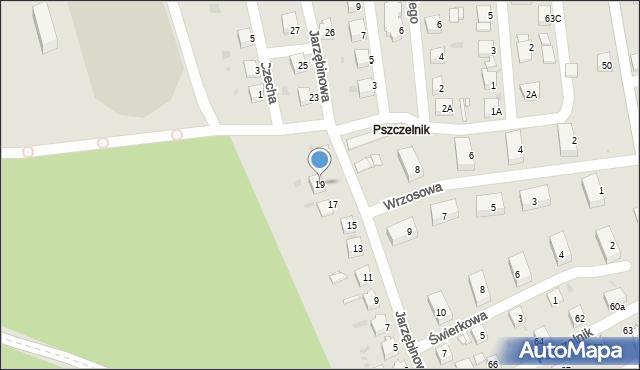 Jaworzno, Jarzębinowa, 19, mapa Jaworzno