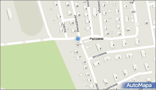 Jaworzno, Jarzębinowa, 21, mapa Jaworzno
