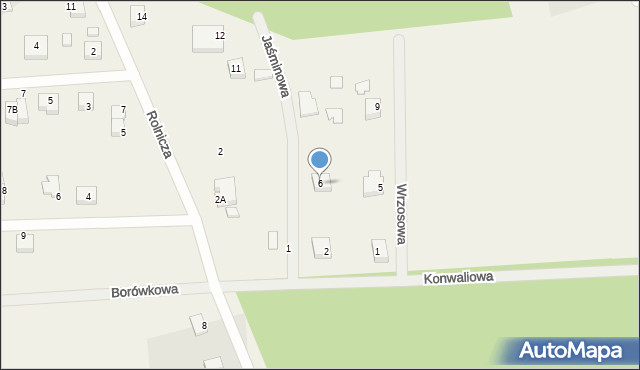 Kębłowo, Jaśminowa, 10, mapa Kębłowo