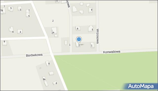 Kębłowo, Jaśminowa, 2, mapa Kębłowo