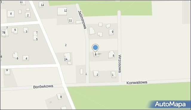 Kębłowo, Jaśminowa, 6, mapa Kębłowo