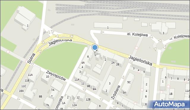 Kołobrzeg, Jagiellońska, 1, mapa Kołobrzegu