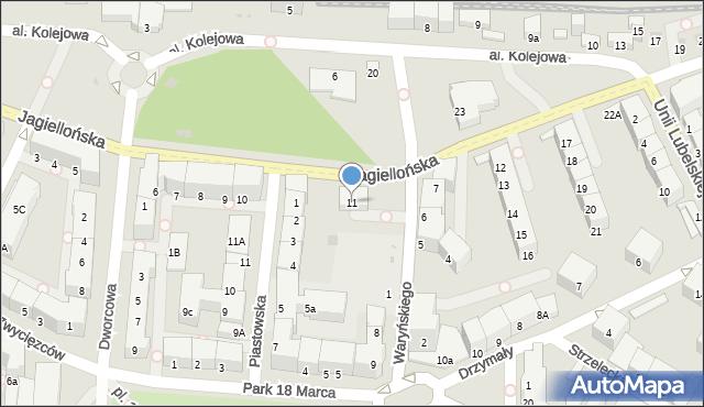 Kołobrzeg, Jagiellońska, 11, mapa Kołobrzegu
