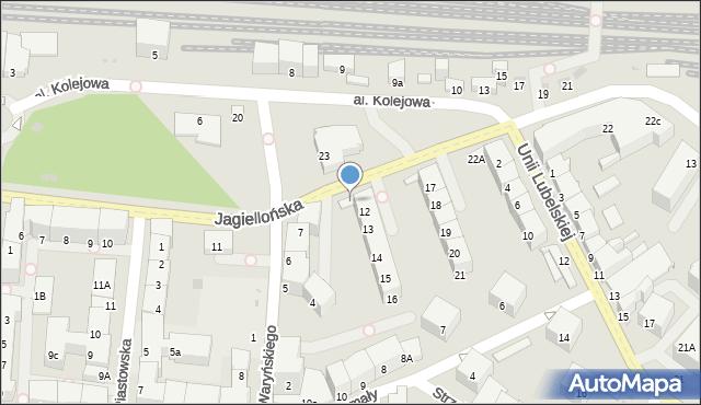 Kołobrzeg, Jagiellońska, 12a, mapa Kołobrzegu