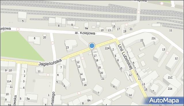 Kołobrzeg, Jagiellońska, 17a, mapa Kołobrzegu