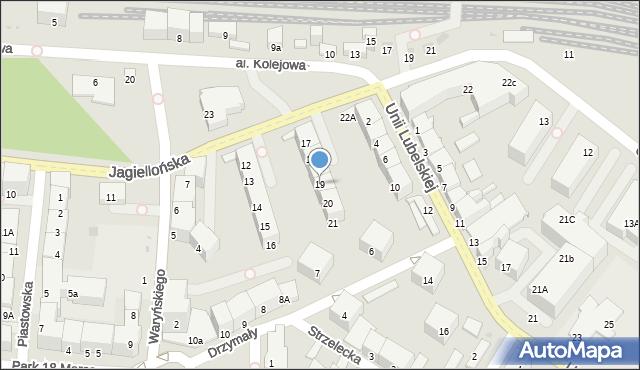 Kołobrzeg, Jagiellońska, 19, mapa Kołobrzegu