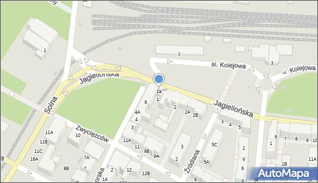 Kołobrzeg, Jagiellońska, 1a, mapa Kołobrzegu