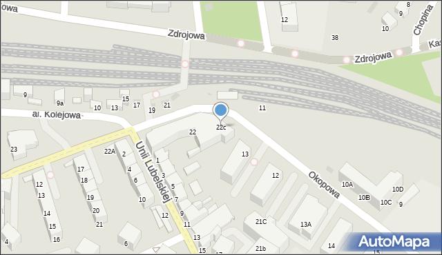 Kołobrzeg, Jagiellońska, 22c, mapa Kołobrzegu