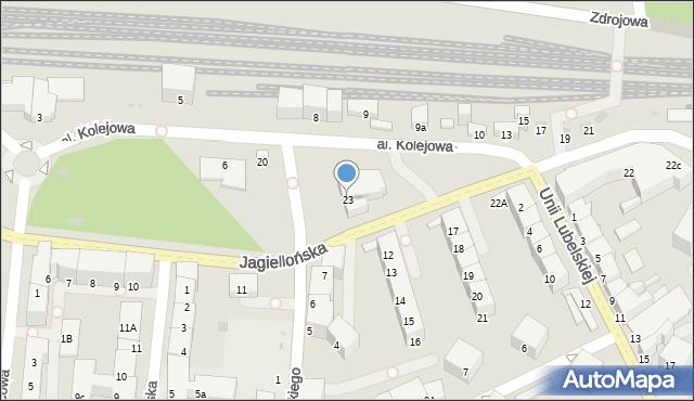 Kołobrzeg, Jagiellońska, 23, mapa Kołobrzegu
