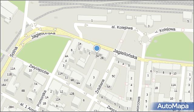 Kołobrzeg, Jagiellońska, 2A, mapa Kołobrzegu