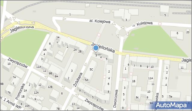 Kołobrzeg, Jagiellońska, 3, mapa Kołobrzegu