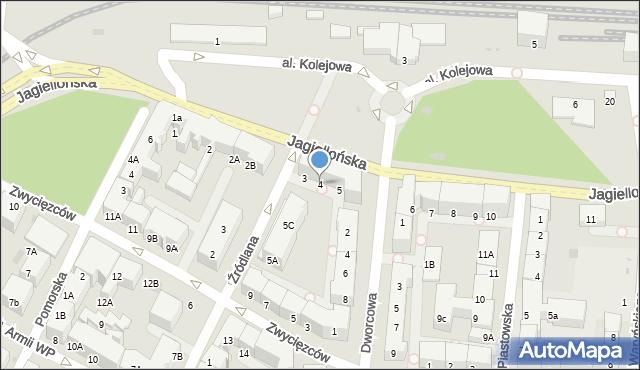 Kołobrzeg, Jagiellońska, 4, mapa Kołobrzegu