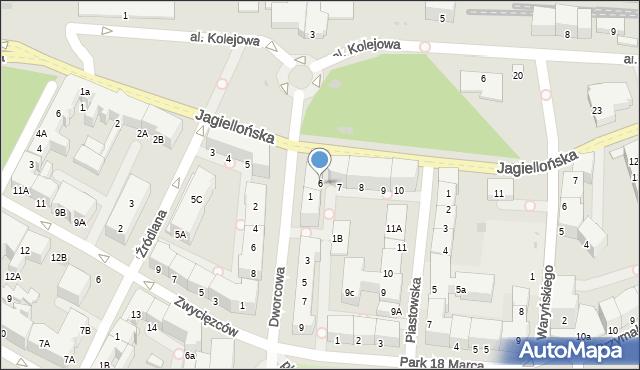 Kołobrzeg, Jagiellońska, 6, mapa Kołobrzegu